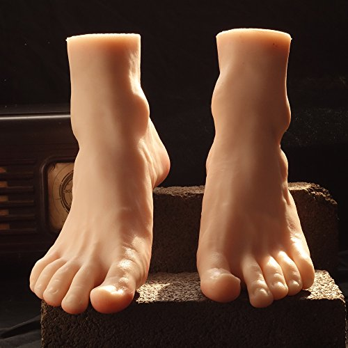 1 Pair Silicone Life Size Male Mannequin Leg Foot Display Jewerly Sandal Shoe Sock Display Art Sketch Alternative Foot Toys