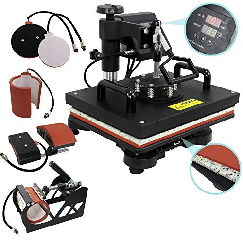 ZENY Digital Heat Press Transfer 5 in 1 Swing Away