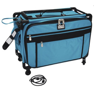 "Tutto Machine On Wheels Case 21"" X13-1/4 X12-Turquoise"