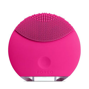FOREO LUNA Mini Silicone Face Brush with Facial Cleansing for All Skin Types, Magenta
