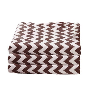 bkb Daycare 6 Piece Chevron Portable Crib Sheets, Brown