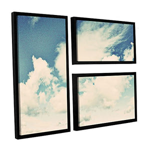 "ArtWall 3 Piece Elana Ray's Clouds on a Beautiful Day Flag Set Floater Framed Canvas, 36 x 48"", Multicolor"