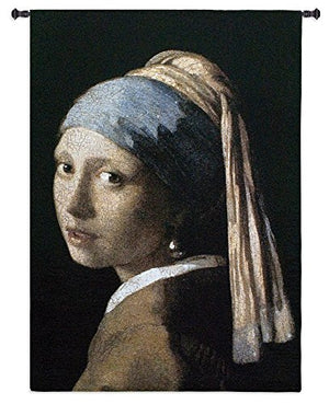 "Fine Art Tapestries ""Girl with a Pearl Earring""  Wall Tapestry"