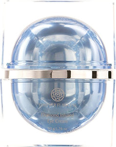 Forever Flawless Diamond Infused Eye Cream 50 g/1.76 oz with Natural Diamond Powder & Retinyl Palmitate (Vitamin A) to reduce and prevent fine lines and wrinkles.