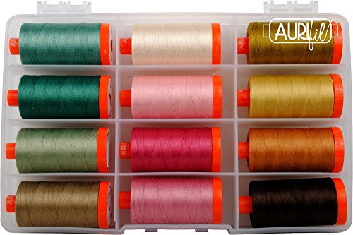 Laundry Basket Quilts Crystal Farm Threads Aurifil Thread Kit 12 Large Spools 50 Weight ES50CF12