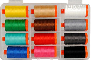 Sophie Standing Thread Painting The Mammal Aurifil Thread Kit 12 Large Spools 50 Weight SS50MC12