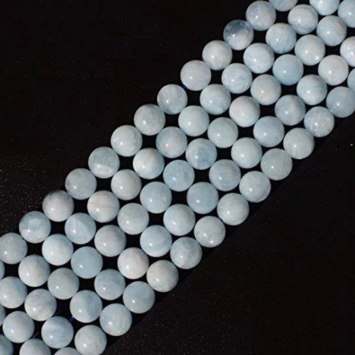 AAA Genuine Sea Blue Aquamarine Quartz and Crystal 10mm Beads for Fashion Jewelry Gift Craft Beading One Strand 15 Inch Apx 35 Pcs