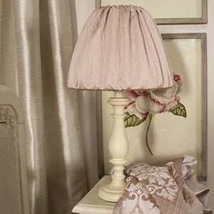 Glenna Jean Angelica Lamp with Cloth Shade, Pink