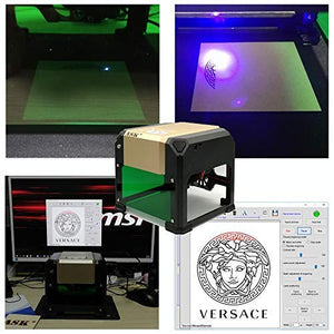 Mini Laser Engraving Machine,3000mw CNC Laser Printer Engraver,DIY Carving Handicraft