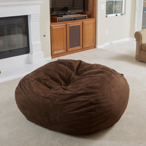 Best Selling Mason Faux Suede Bean Bag, 5-Feet, Brown