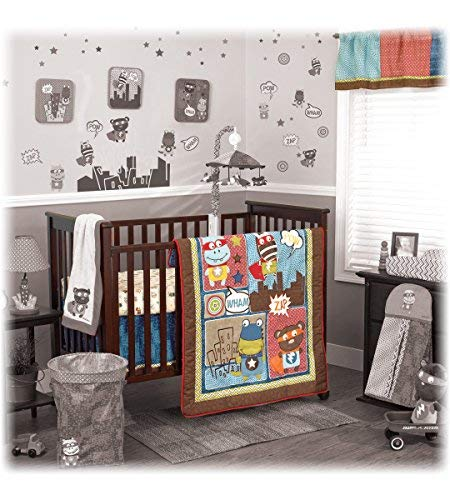 Cocalo Superhero Pals 4-Piece Crib Bedding Set
