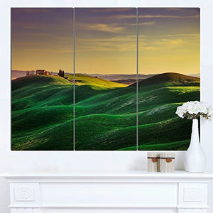 Green Rolling Hils in Crete Senesi Landscape Canvas Wall Art