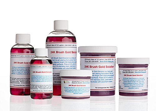 2 oz Liquid 24K Brush Gold Plating Solution - The Fastest, Most Durable, Best Value, Most Consistent Gold Solution from The Most Trusted Name in The Industry Instant Results