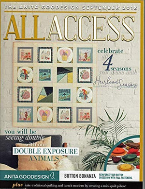 Anita Goodesign All Access VIP Club September 2018 Embroidery Design CD & Book