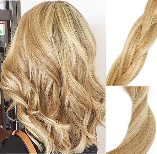 Clip In Human Hair Extensions Mixed Bleach Blonde Extension Clip ins New Version Thickened Double Weft 9A Brazilian Hair 120g 7pcs Full Head Silky Straight 100% Human Hair Clip In Extensions 22 Inch