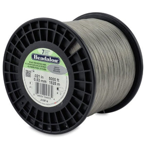 Beadalon 0.021-Inch 7-Strand Wire, Bright, 5000-Feet