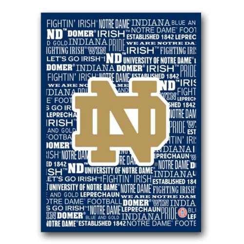 Artissimo Designs ARTCNDTY16 Notre Dame Typography Canvas Art, 16x20