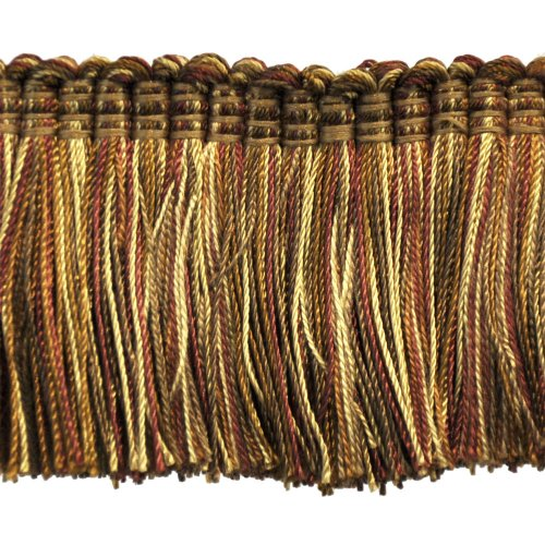 "Brushed Fringe 2"" on 25-Yard Roll, Brown/Rust and Gold"