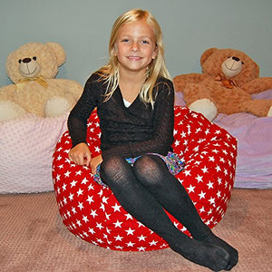 Ahh! Products Patriot Stars Red Kid Bean Bag Chair