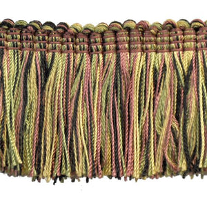 "Brushed Fringe 2"" on 25-Yard Roll, Black/Green and Gold"