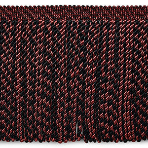 "Expo International 8"" Lauren Brooks Bullion Fringe Trim, 10 yd, Black/Red"