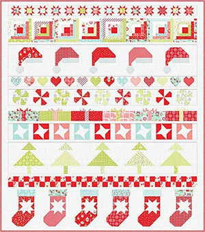 Bonnie & Camille Vintage Holiday Christmas Quilt Kit Moda Fabrics KIT55161