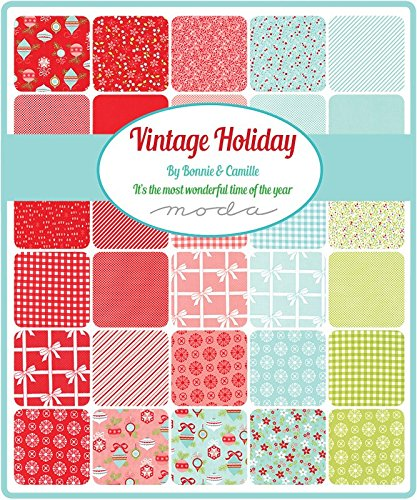 Vintage Holiday Flannel Fat Quarter Bundle 20 Precut Cotton Fabric Assortment by Bonnie & Camille for Moda 55160ABF