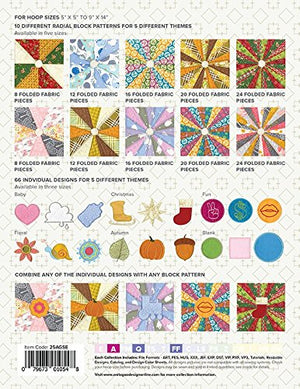 Anita Goodesign Embroidery Designs Radial Quilting 1,2,3