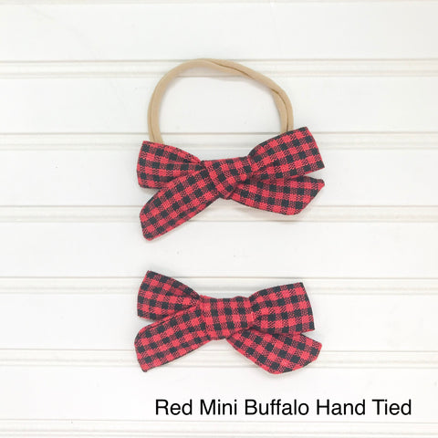 Red Mini Buffalo Hand Tied
