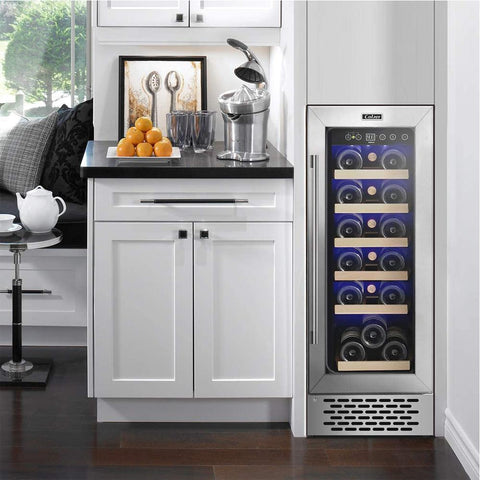 "Colzer Wine Cooler 12"" Wide 18 Bottle Elegant Single Zone YC-60A"