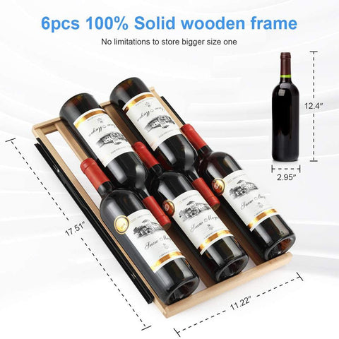 "Image of Colzer Wine Cooler 15"" Wide 30 Bottle Elegant Single Zone YC-100A"