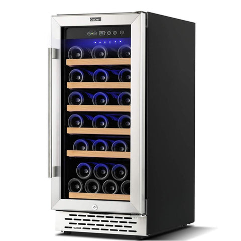 "Colzer Wine Cooler 15"" Wide 30 Bottle Elegant Single Zone YC-100A"