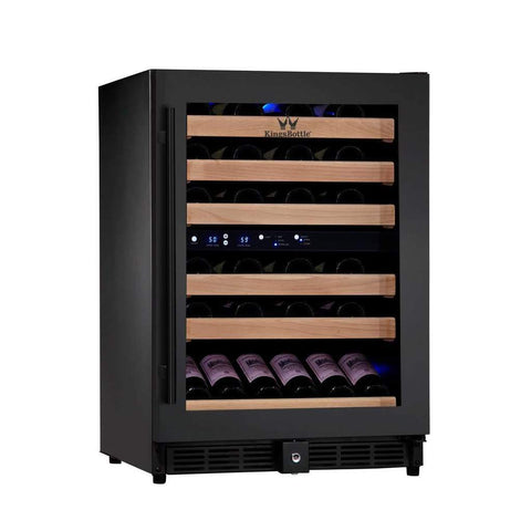 "KingsBottle Wine Cooler KBU-50DX- 24"" Wide 46 BottlesDual Zone"