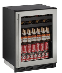 "U-Line U-1224BEVS-00B Beverage Center 85 Bottles 24"" Wide Single Zone"