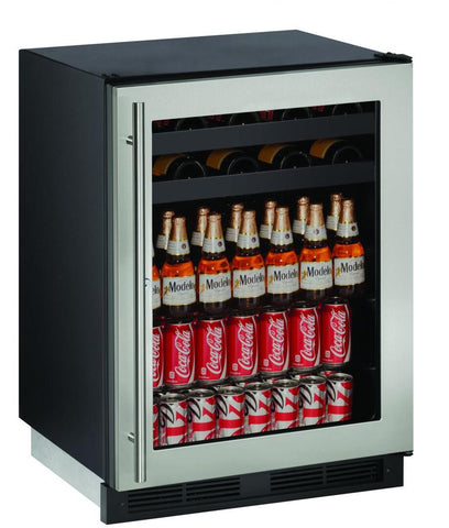 "Image of U-Line U-1224BEVS-00B Beverage Center 85 Bottles 24"" Wide Single Zone"