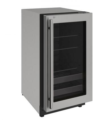 "Image of U-Line U-2218BEVS-00A Beverage Center 51 Bottles 18"" Wide Reversible Hinge Stainless"