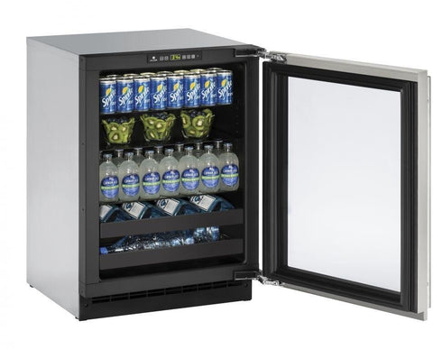 "Image of U-Line U-2224BEVS-00B Beverage Center 79 Bottles 24"" Wide Single Zone"