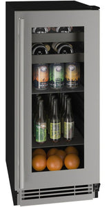 "U-Line UHBV115-SG01A Beverage Center 48 Bottles 15"" Wide Single Zone"
