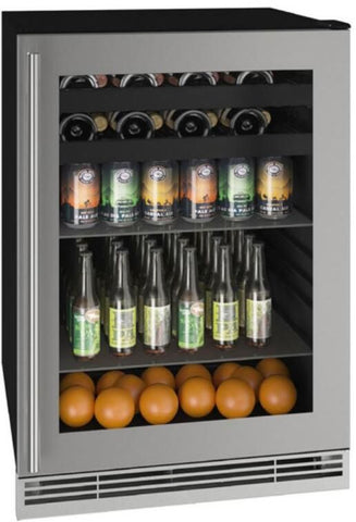 "U-Line UHBV124-SG01A Beverage Center 85 Bottles 24"" Wide Single Zone"