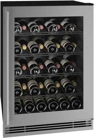 "Image of U-Line UHWC024-SG01A Wine Cooler 48 Bottles 24"" Wide 1 Class Wine Captain"