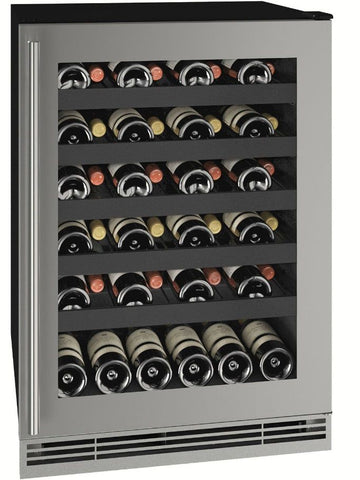"Image of U-Line UHWC124-SG01A Wine Cooler 48 Bottles 24"" Wide 1 Class"
