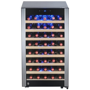 "AKDY WC0040 52 Bottle Wine Cooler 19.5"" Wide Single Zone Built In/ Free Standing - AKDY - 52 Bottles"