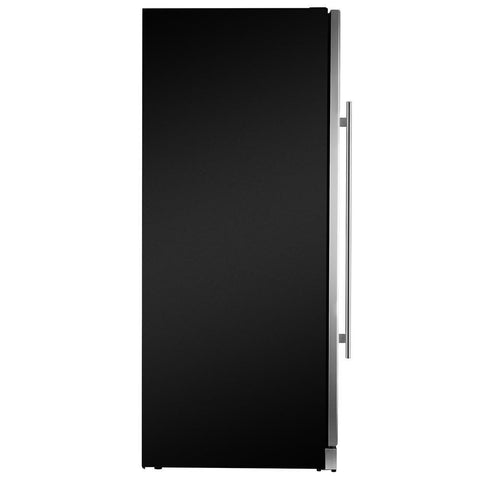 "Image of AKDY WC0078 59 Bottle Wine Cooler 23.5"" Wide Single Zone Free Standing Stainless Steel Black - AKDY - 59 Bottles"