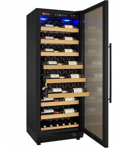 "Allavino 115 Bottles Allavino YHWR115-1BR20 Wine Refrigerator 24"" Wide 115 Bottle Vite II Single Zone Black"
