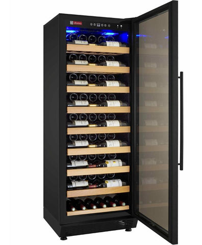 "Image of Allavino 115 Bottles Black Allavino YHWR115-1BR20 Wine Refrigerator 24"" Wide 115 Bottle Vite II Single Zone Black"