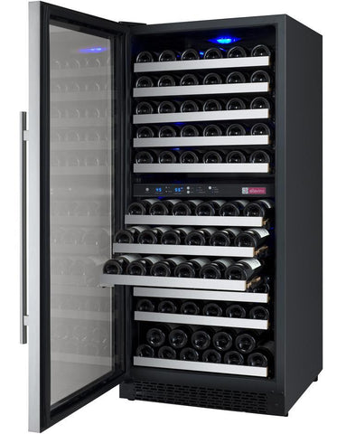 "Image of Allavino 121 Bottles Allavino VSWR121-2SL20 Wine Refrigerator 24"" Wide 121 Bottle FlexCount II Series Dual Zone Stainless Steel"