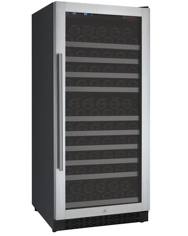 "Image of Allavino 128 Bottles Allavino VSWR128-1SL20 Wine Refrigerator 24"" Wide 128 Bottle FlexCount II Series Single Zone Stainless Steel"
