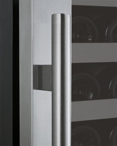 "Allavino 128 Bottles Allavino VSWR128-1SL20 Wine Refrigerator 24"" Wide 128 Bottle FlexCount II Series Single Zone Stainless Steel"
