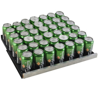 "Allavino 154 12oz Cans Allavino VSBC24-SL20 Beverage Center 24"" Wide FlexCount II Tru-Vino Stainless Steel Left Hinge"