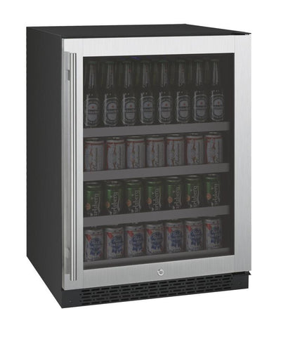 "Image of Allavino 154 12oz Cans Left Allavino VSBC24-SL20 Beverage Center 24"" Wide FlexCount II Tru-Vino Stainless Steel Left Hinge"